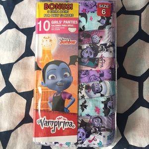 Vamparina girls panties 10 pack size 6
